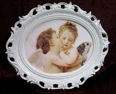 Engelsbild Engels-Kuss Bild mit Engel Schutzengel bild 58x68 Engelbild Heilige
