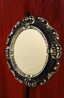 Wandspiegel OVAL ANTIK Schwarz Silber BadSpiegel Spiegel BAROCK45X37 Neu 10345 - Vorschau 5