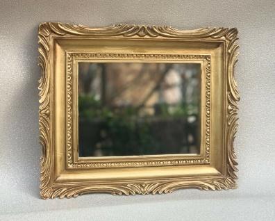 Barock Spiegel Gold Italienische Wandspiegel Antik Rechteckig 33x28 Modern Deko - Vorschau 2