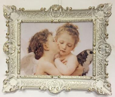 Bild mit Rahmen Engelspaar 56x46 Wandbild Küssende Engel Gemälde Schutzengel