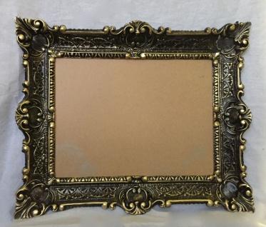 Bilderrahmen Schwarz-gold Barock+Glas Gemälde/Spiegel/Fotorahmen 56X46 Antik - Vorschau 3