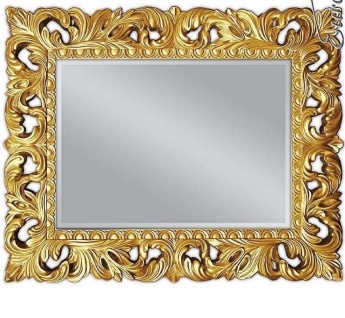 Wandspiegel Gold Ornament 100x80 Standspiegel Spiegel Flurspiegel Badspiegel