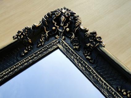 Bilderrahmen Barock Bilderrahmen Groß-Schwarz-Gold 97x57 Fotorahmen Antik