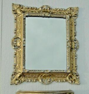 Wandspiegel Gold Weiß 45x38cm Barock Spiegel Badspiegel Hängespiegel Antik
