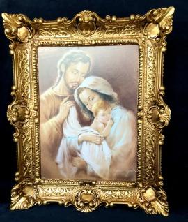 Bild Heilige Bild 57x47 Antik Rahmen Jesus Christus Maria Mutter Gottes Josef - Vorschau 5