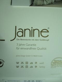 Janine Mako Satin Bettwäsche 135x200 Bettgarnitur Kariert Taube Baumwolle - Vorschau 5