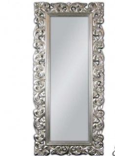 Großer Barock Wandspiegel Florenz 190x80cm Standspiegel Spiegel Silber ornamente