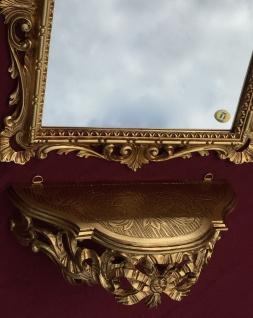 Wandspiegel mit Konsole Barock Gold mit Glas 38x36 Badspiegel Ablage Antik C533 - Vorschau 3