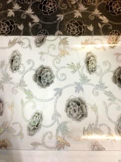 Tischdecke Tischfolie Tischschutz Schutzfolie 90 cm transparent mit Muster 2mm