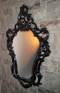 Retro Wandspiegel Antik Spiegel schwarz 50x76 oval Shabby SPIEGEL JUGENDSTILL