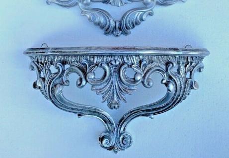 Wandkonsole Vintage Antik Silber Spiegelkonsolen BAROCK/Wandregal Konsole 38x20