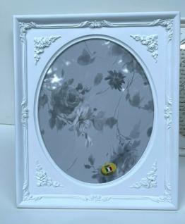 Bilderrahmen Weiß Oval Rechteckig 19x17 Antik Barockrahmen Tischdeko Fotorahmen