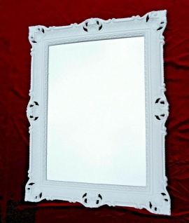Wandspiegel Weiß 90x70 Spiegel Barock Rechteckig Antik Badspiegel Friseurspiegel