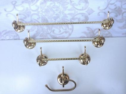 Handtuchhalter Gold Messing Barock Badaccessoires Wc toilette Bad Klassik Luxus - Vorschau 2