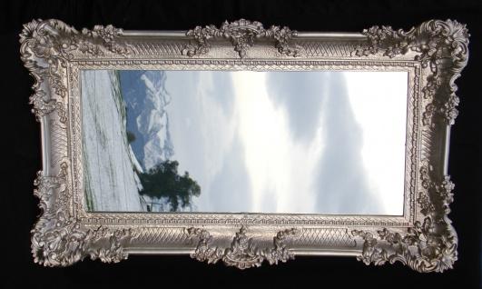 Wandspiegel Antik Silber Rechteckig 96x57cm Flurspiegel Badspiegel Barock Rokoko