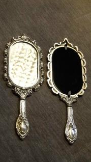 2 x Handspiegel Kosmetik Taschen make up spiegel Messing Gold Antik 26, 5cm