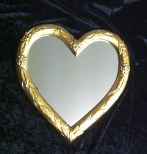 Wandspiegel Spiegel Herz form Gold 39x38 Kinderzimmer Bad Spiegel 3072 - Vorschau 4