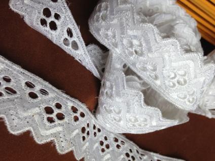 9 METER Spitzenborte Weiß band 3 cm Baumwolle Spitze Kissen Stickerei Madeira - Vorschau 5
