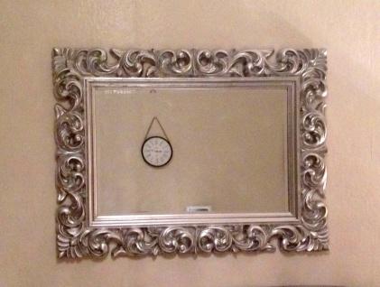 Wandspiegel Antik Silber 120 x 90 CM Barock Friseurspiegel Spiegel Ornamente - Vorschau 5