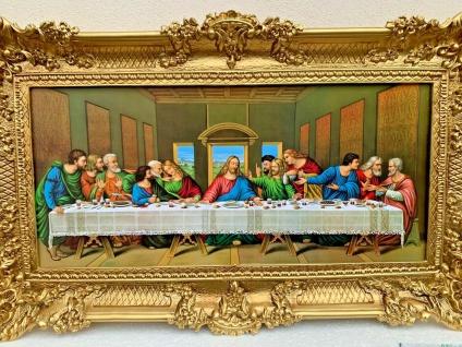 Religiöse Wandbild Abendmahl 97x58 Jesus APOSTEL Jesusbild Leonardo Da Vinci 1