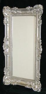 Wandspiegel Barock Großer Spiegel Silber hochglanz 97x57 Bilderrahmen Antik