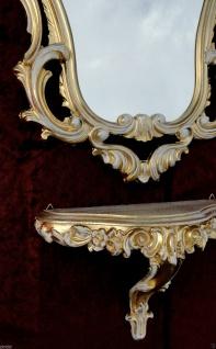 Wandspiegel mit Konsole Barock Gold Weiß 50x76 Wandkonsole Antik Spiegelablage