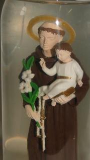 Maria ikonen Figur als Deko Glasskugel 19 x 10 x10cm Heilige san Antonio jesus