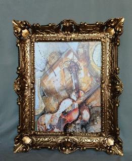 Bild mit Rahmen Gerahmte Gemälde 57x47 GEIGE Violine Music Instrumente