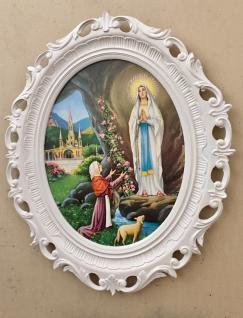 Religiöse Bild mit Rahmen Christliche Gemälde Heilige Maria Mutter Gottes 58X68