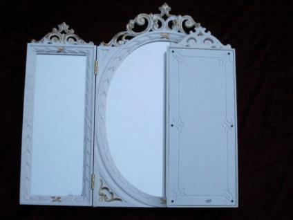 Wandspiegel Antik Oval Rechteckig Weiß Gold Badspiegel BAROCK 60X46 Spiegel c508 - Vorschau 5