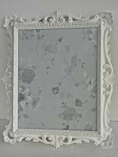 Bilderrahmen+Schutzglas Barock Weiß Antik 43x37 Bilderrahmen Fotorahmen C532