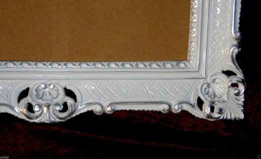 Bilderrahmen Barock Weiß-Silber Hochzeitsrahmen Antik 90x70 Fotorahmen groß Deko - Vorschau 5