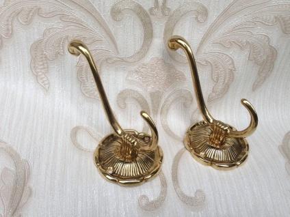 2 x Wandhaken Garderobenhaken Kleiderhaken Antik Messing Haken Gold Jugendstil