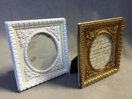 Bilderrahmen Weiß Oval Antik Barockrahmen Fotorahmen Rechteckig Shabby c78-p