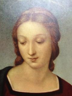 Maria Engel Madonna 90x70cm Wandbild Heilige Bild Jungfrau Maria Silber