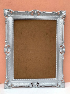 Bilderrahmen Silber+Glas 70x90 Prunk Gemälde/Poster Barock antik Foto Rahmen