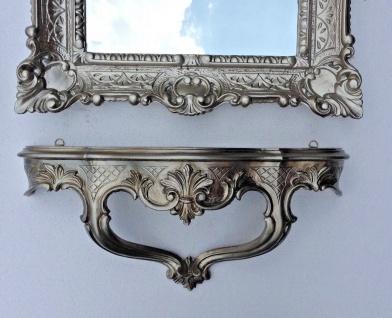 Wandspiegel Rechteckig mit Konsole AltSilber Antik Spiegelablage 56X46 BAROCK