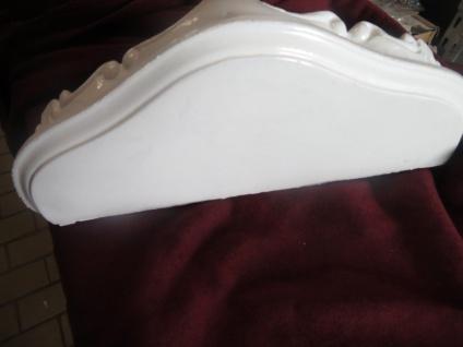 Wandspiegel Konsole Weiß 23, 5x18x 10 Antik Regale mini Ablage Telefontisch - Vorschau 5