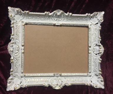 Bilderrahmen Weiß-Gold mit Glas Antik Rechteckig 56x46 Barock 30x40 Fotorahmen