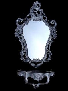 Wandspiegel Oval mit Konsole Alt Silber Antik 50x76 Barock Wandspiegel Set - Vorschau 4