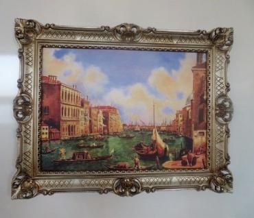 Bilder+Rahmen Gemälde Italien Gondel 90x70 Antik BAROCK Rechteckig Bild Venedig
