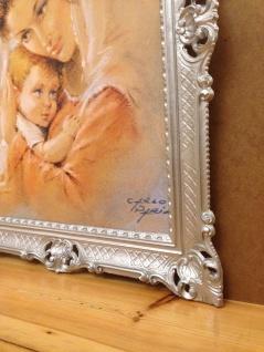 Mutter Baby Madonna Maria Gemälde 90x70 Bild Wandbild Bild mit Rahmen Barock - Vorschau 2