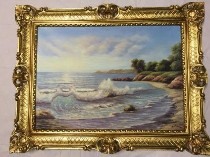 Landschafts Bild Gemälde Meer blick Welle Landschaftsbild Strand 90x70 Druck L8