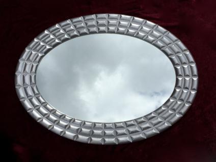 Wandspiegel SILBER XXL Spiegel ANTIK Oval 101x75 Flurspiegel Badspiegel Mirror