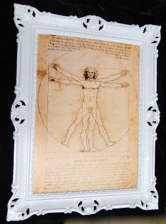 Gemälde Geometrie des Menschen 70x90 vitruvianischer Mensch Leonardo Da Vinci