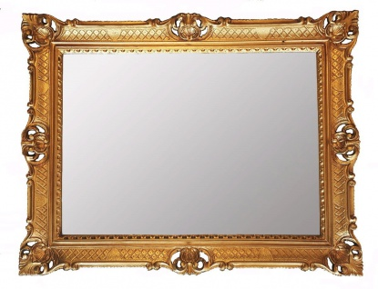 Wandspiegel GOLD Barock 90x70 Spiegel Antik Badspiegel Flur hängespiegel NEU