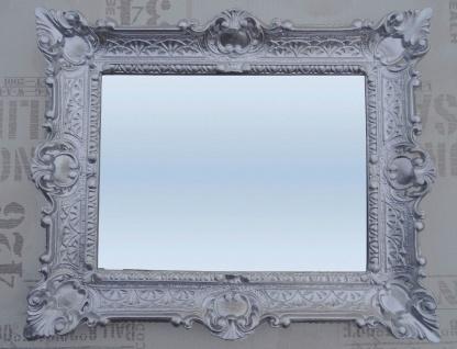 Wandspiegel Barock Spiegel Silber hochglanz Badspiegel 46x56 Innen:30x40 NEU