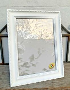 Bilderrahmen Weiß Barock Rahmen Antik 22x17 Fotorahmen zum aufstellen C512