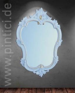 Wandspiegel Weiß-Gold Retro MÖBEL Vintage Oval Spiegel Antik 50x35 BAROCK 444wg