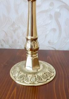 ANTIK Kerzenständer Messing Kerzenleuchter 3 flammig GOLD 24cm Massiv Kandelaber - Vorschau 4